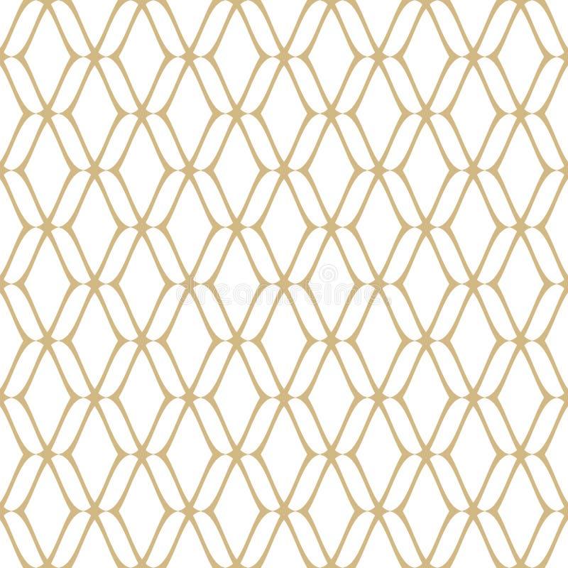 Ouro e fundo luxuoso retro branco Repita o elemento do projeto ilustração royalty free