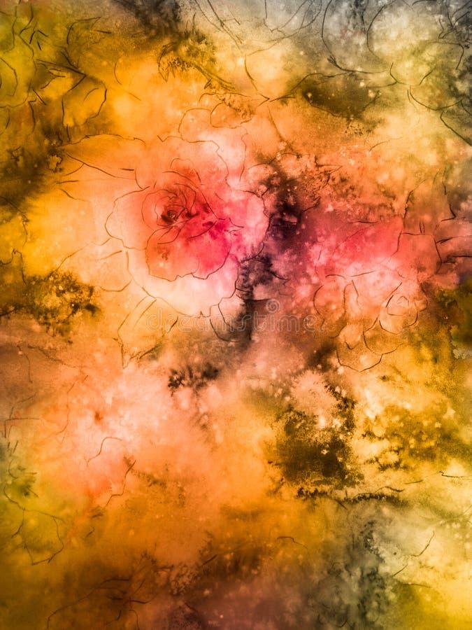 Ouro e Rose Floral imagens de stock