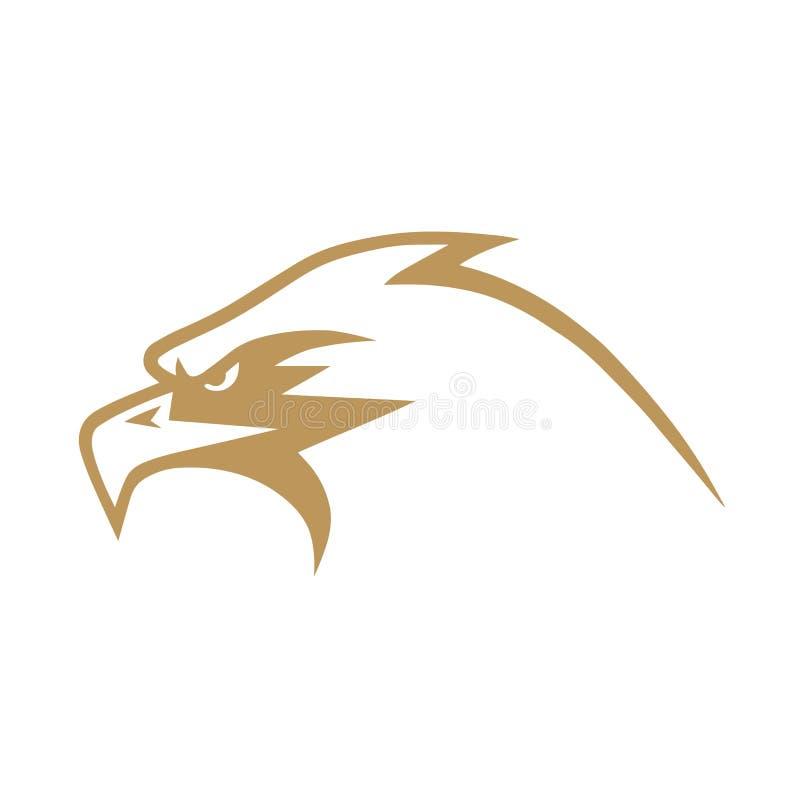 Ouro Eagle Logo Design Vetora ilustração royalty free
