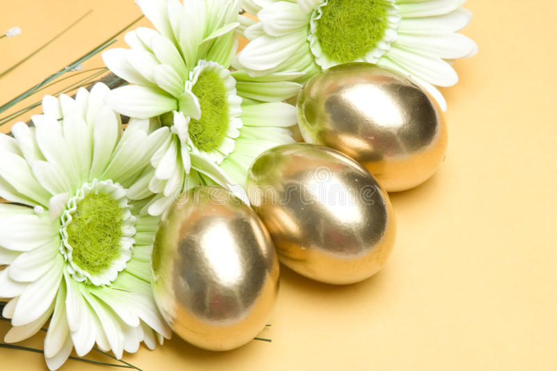 Ouro Easter foto de stock royalty free