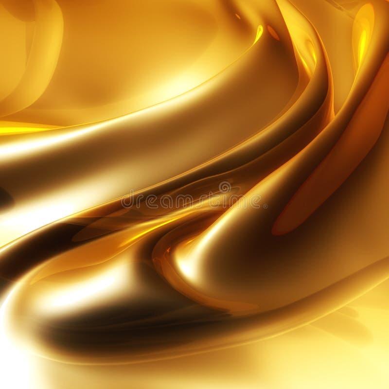 Ouro elegante de seda ilustração do vetor