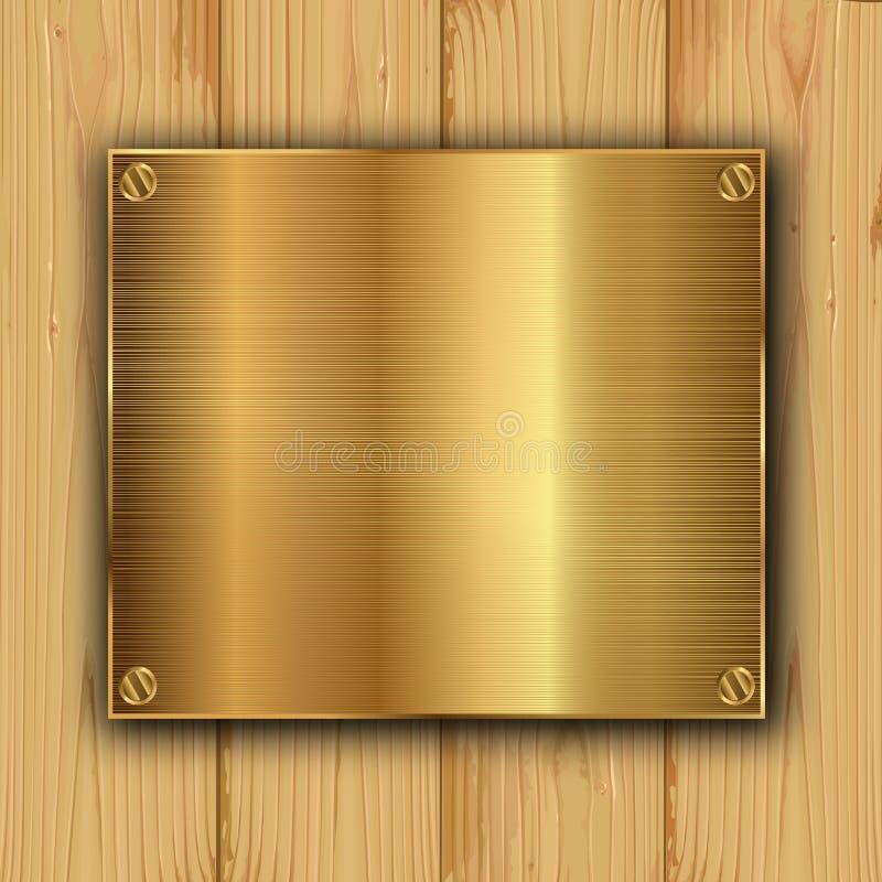 Ouro em uma madeira ilustração stock
