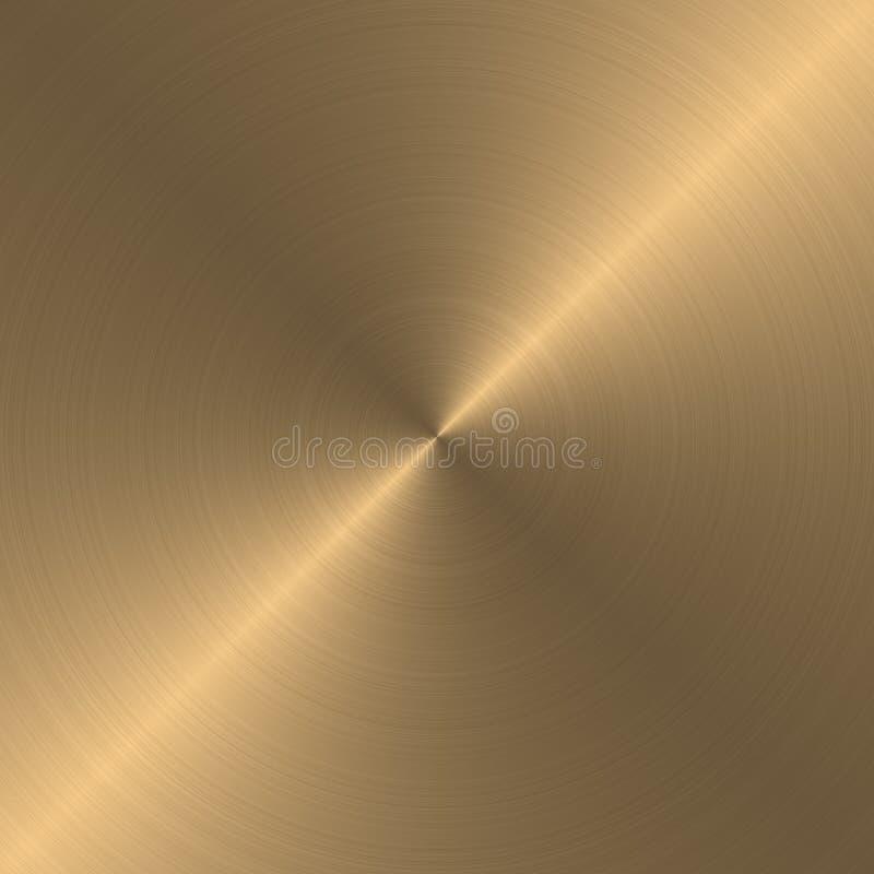 Ouro escovado circular ilustração stock