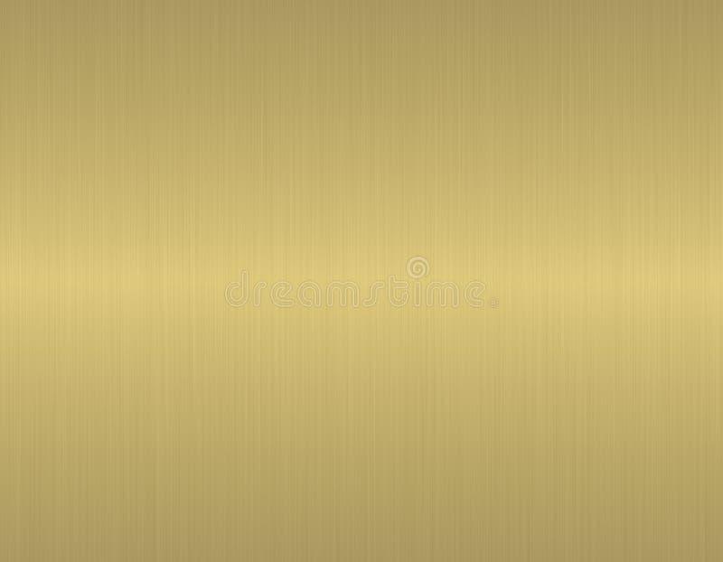 Ouro escovado textura ilustração royalty free