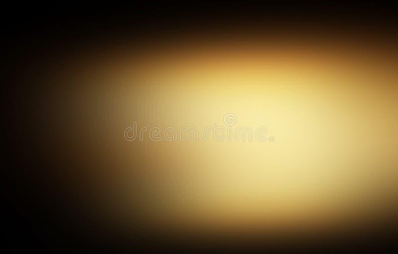 ouro escuro e preto luxo abstrato defocused do fundo do ouro ilustração royalty free