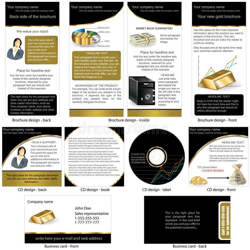 Ouro estacionário ilustração stock
