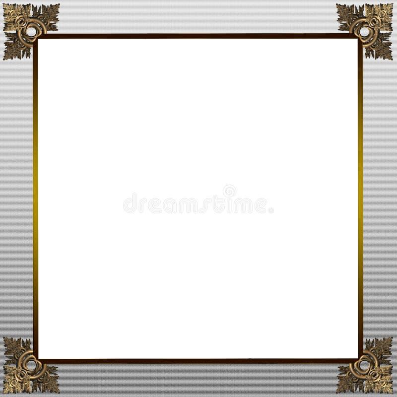 Ouro excelente e quadro cinzento da imagem ou da beira ilustração do vetor