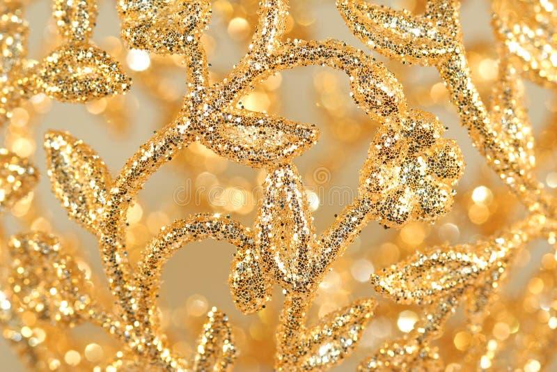 Ouro Filigree foto de stock royalty free