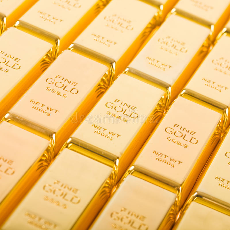 Ouro fino 999.9 imagem de stock royalty free
