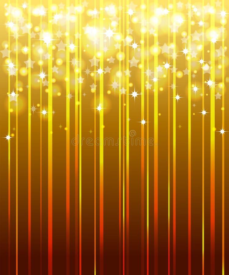 Ouro, fundo festivo. ilustração do vetor