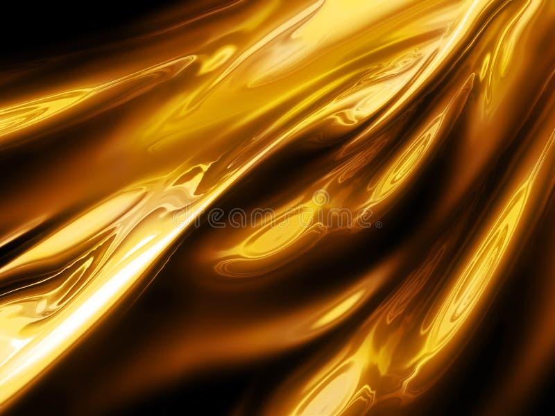 Ouro líquido ilustração do vetor
