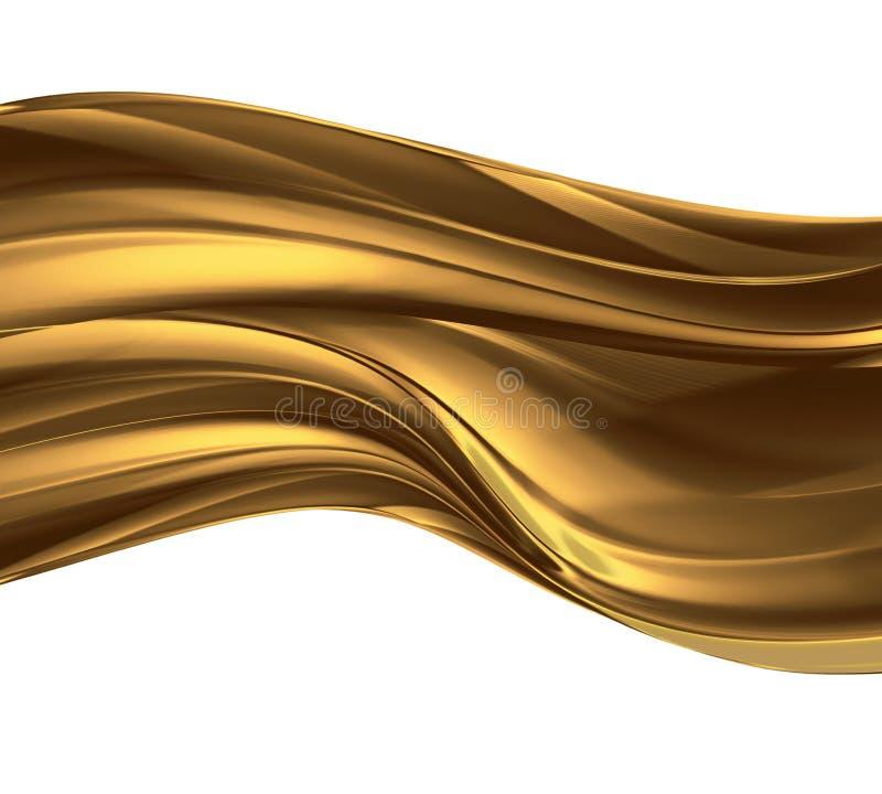 Ouro líquido ilustração royalty free