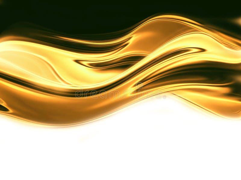 Ouro líquido ilustração stock