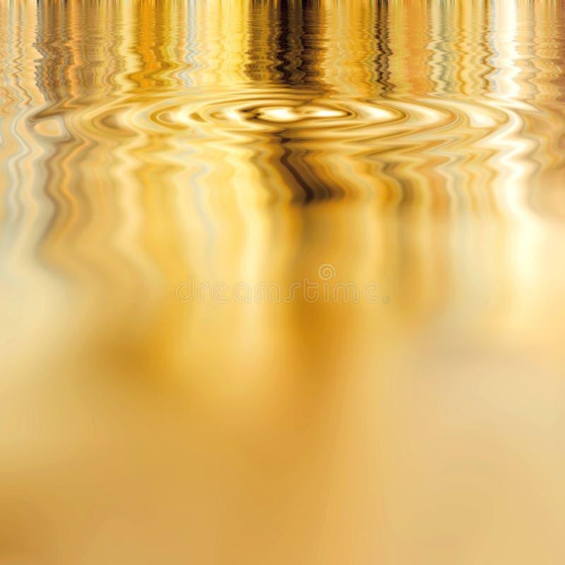 Ouro líquido liso ilustração do vetor