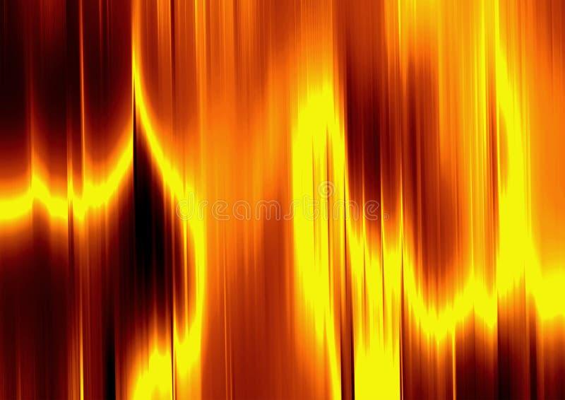 Ouro líquido no incêndio ilustração royalty free