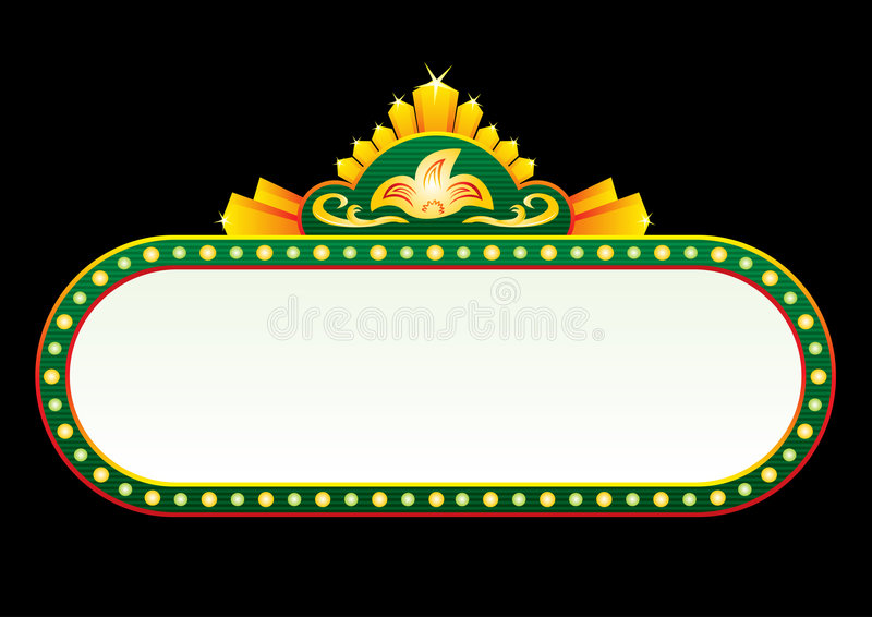 Ouro no néon verde ilustração royalty free