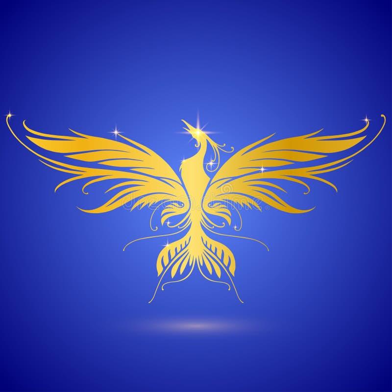 Ouro phoenix ilustração stock