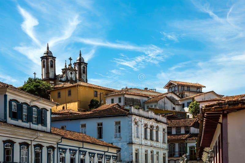 Ouro Preto в минах Gerais - Бразилии стоковые фотографии rf