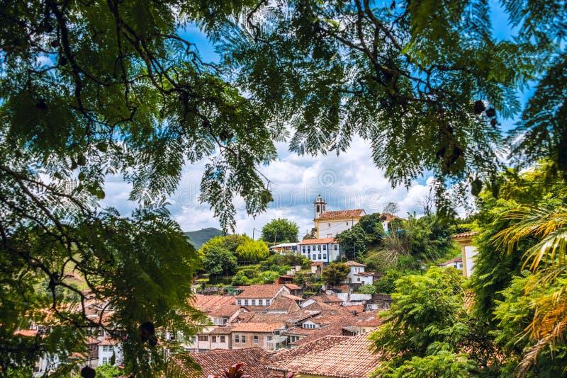 Ouro Preto в минах Gerais - Бразилии стоковое фото