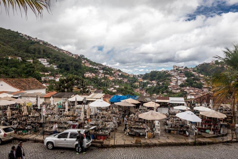 Ouro Preto, Brasil, mercado fotografia de stock