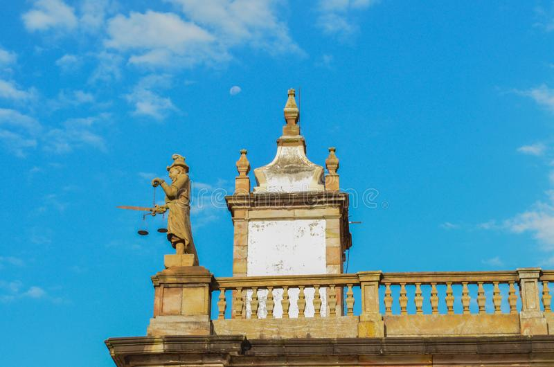 Ouro Preto, Brazil. Beautiful detail in a christian church of a historical and colonial town. This city is UNESCO world heritage and founded three hundred years stock photos