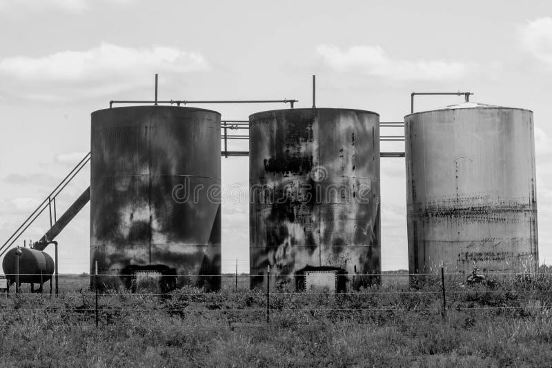 Ouro preto em Texas Oilfield ocidental fotografia de stock