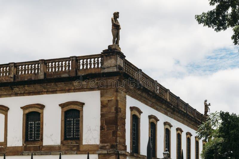 Ouro Preto, Minas Gerais, Brasilien-Markstein lizenzfreies stockfoto