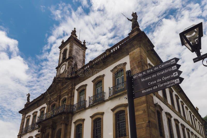 Ouro Preto, Minas Gerais, Brasilien-Markstein stockfotografie