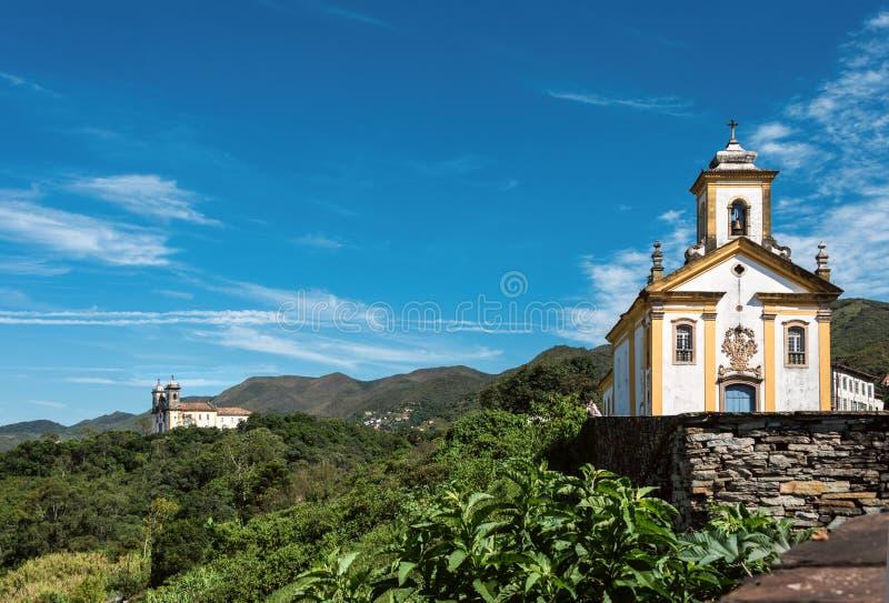 Ouro Preto, Minas Gerais, el Brasil imagenes de archivo