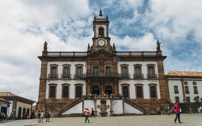 Ouro Preto, Minas Gerais, point de repère du Brésil image stock