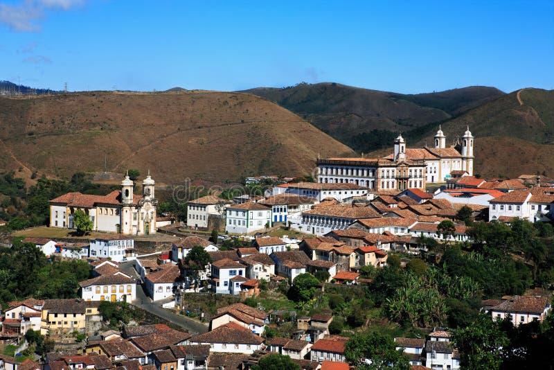 Ouro-preto Stadtbild-Minas-gerais Brasilien stockfotos
