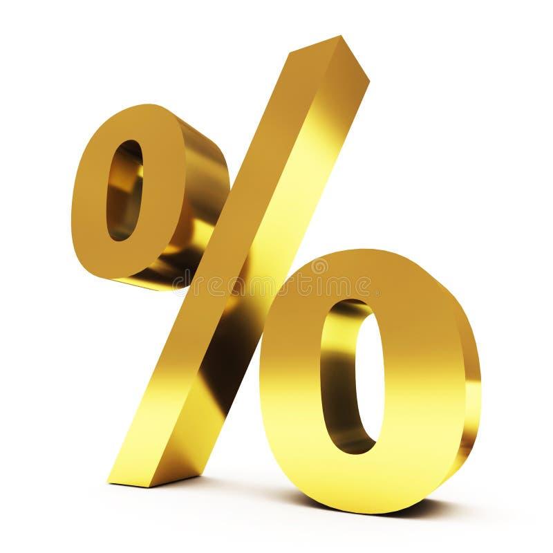 Ouro procent ilustração royalty free