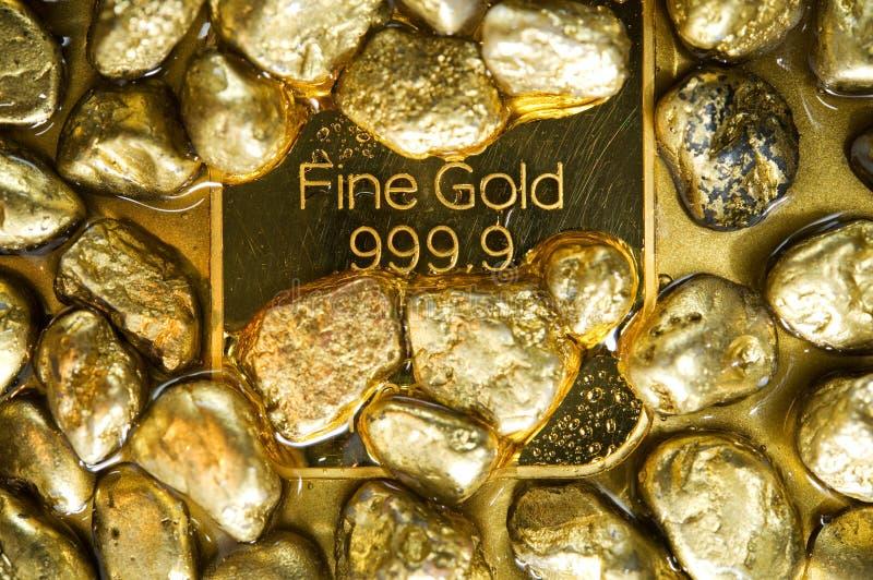 Ouro puro fotografia de stock