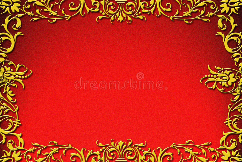 Ouro real ilustração stock