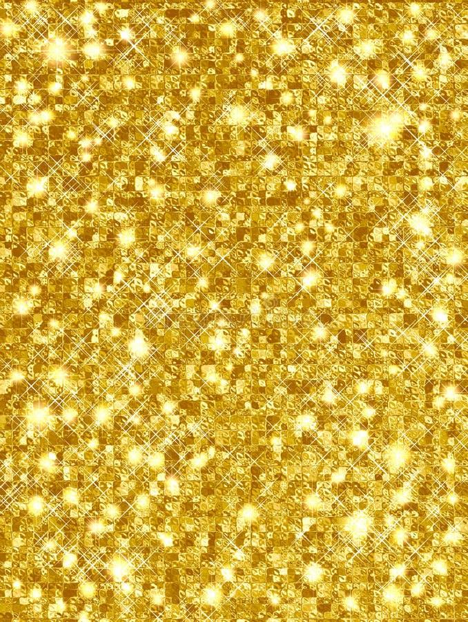Ouro Sparkling ilustração stock