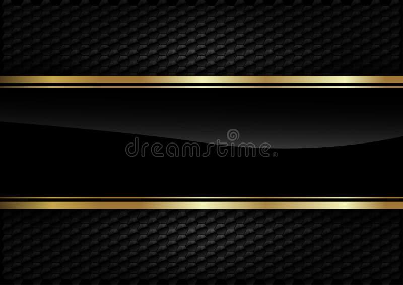 Ouro traseiro do fundo ilustração stock