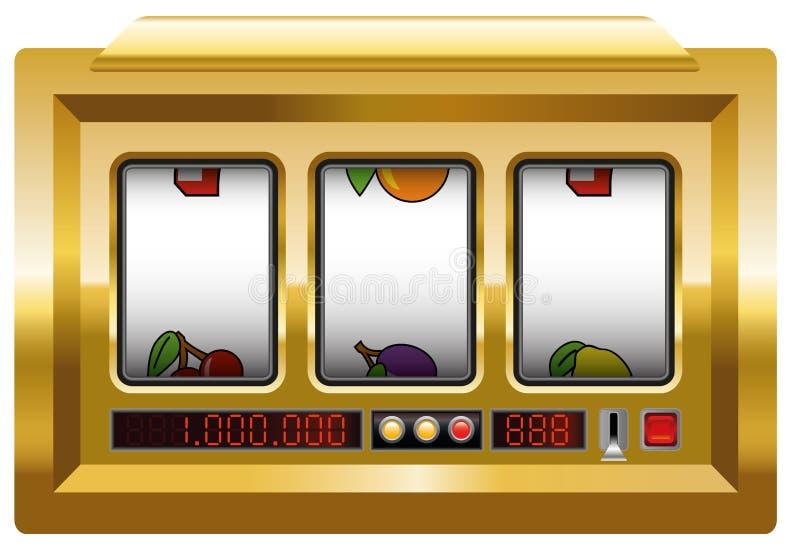 Ouro vazio do slot machine ilustração do vetor