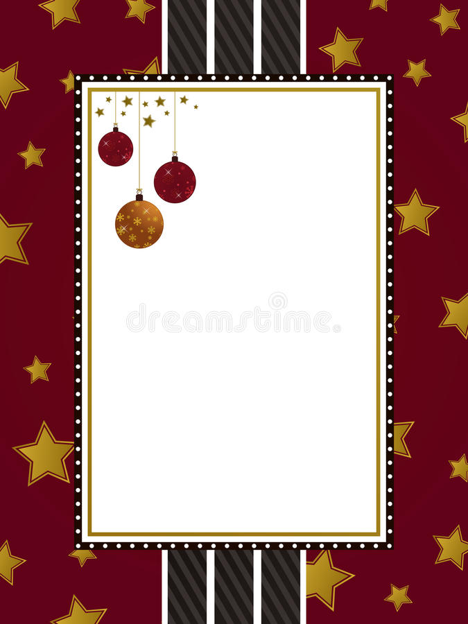 Ouro vermelho e frame preto ilustração stock