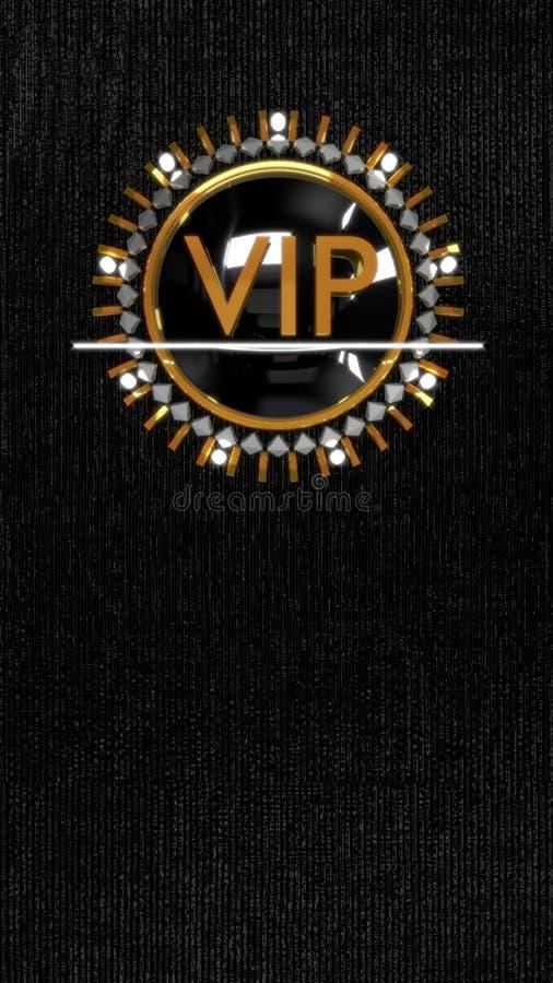 Ouro VIP ilustração royalty free