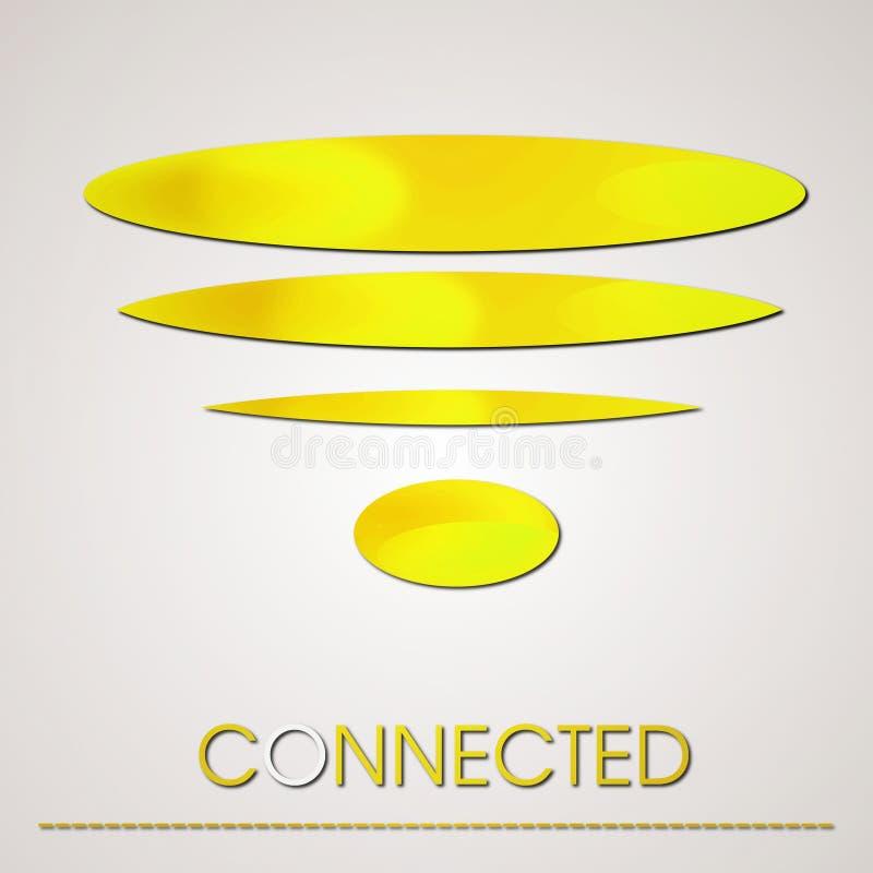 Ouro Wifi abstrato Logo Connection fotografia de stock royalty free