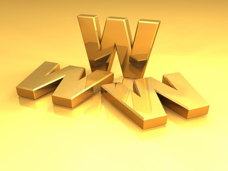 Ouro WWW ilustração do vetor