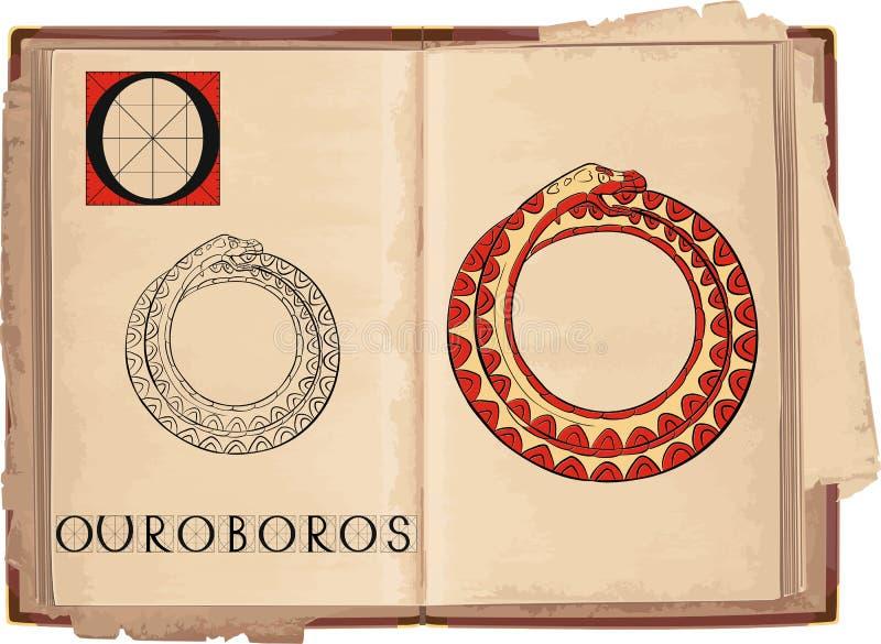 Ouroboros royalty ilustracja