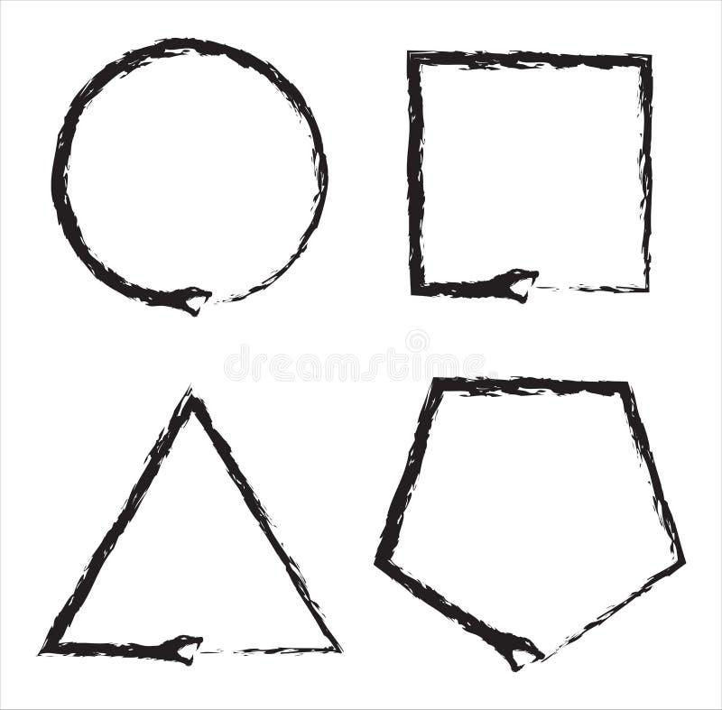Ouroboros węża znak Kształtuje kolekcję ilustracji