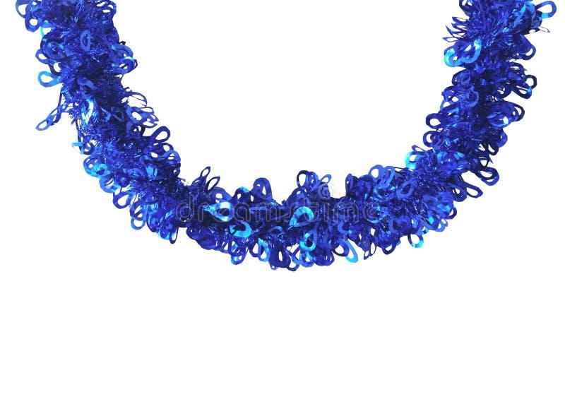 Ouropel do azul do Natal imagens de stock