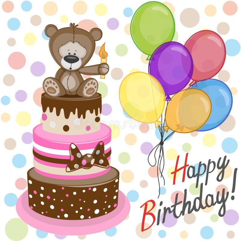 Ours avec des baloons illustration stock