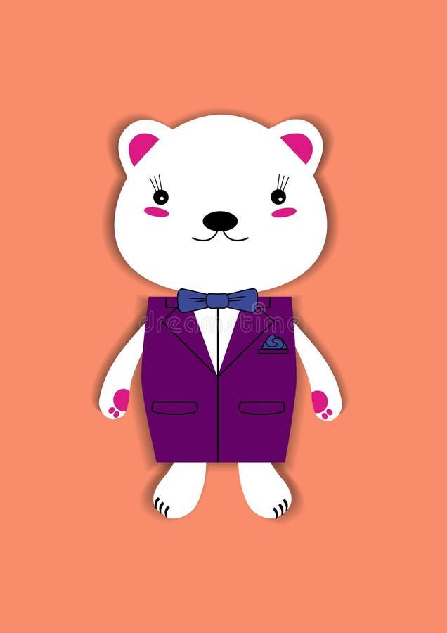 Ours avec la veste image libre de droits
