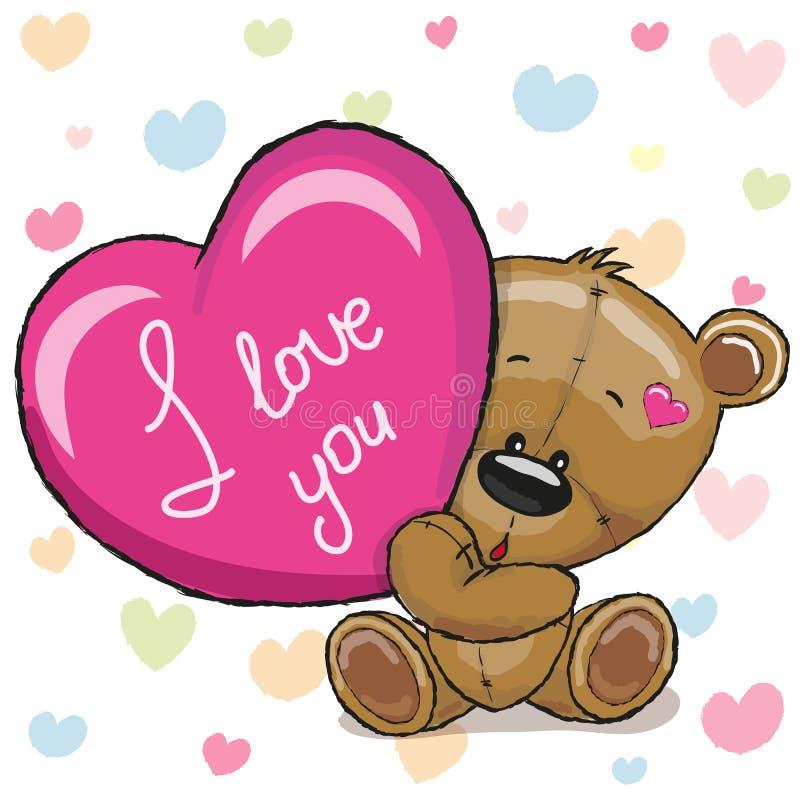 Ours avec le coeur illustration libre de droits