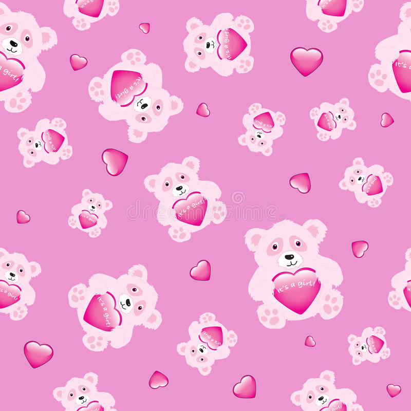 Ours avec le coeur sans joint illustration stock