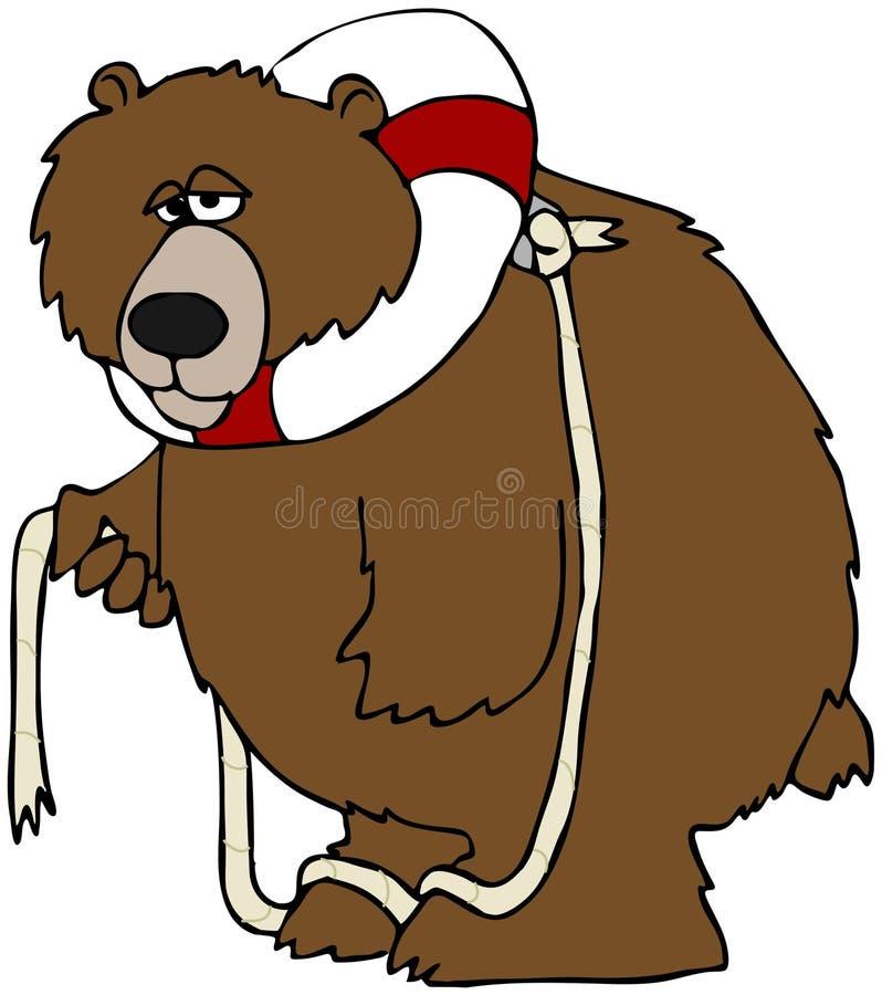 Ours avec un conservateur de durée illustration libre de droits