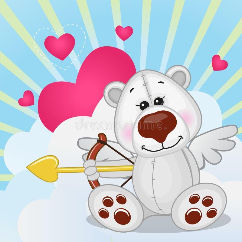 Ours blanc de cupidon illustration libre de droits